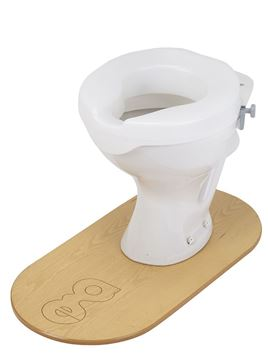 Ashby Easy Fit Raised Toilet Seat in situe
